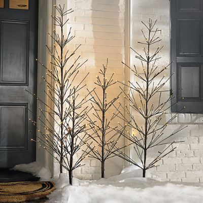 outdoor twig christmas tree battery operated outdoor twig tree grandin road 5666
