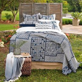 Indigo Cotton Quilt and Sham