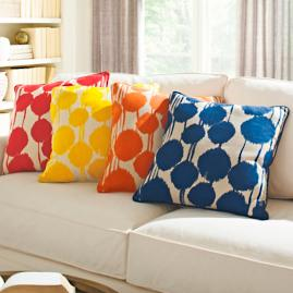 Inkblot Throw Pillow