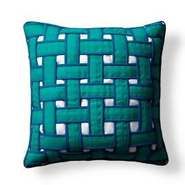 Basket Weave Outdoor Pillow
