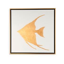 Golden Sea Life Angler I Artwork