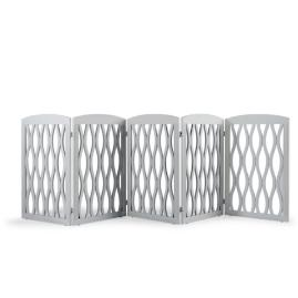 Wavy Wood Five-Panel Pet Gate