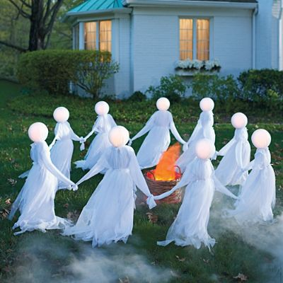 Holding Hands Ghosts Set Of Three Grandin Road