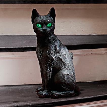 Black Cat With Glowing Eyes Grandin Road