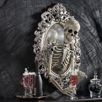Sorceress Skull Framed Mirror Grandin Road