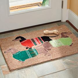 Cozy Dachshund Entry Mat