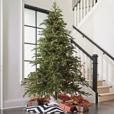 How To String Lights On Artificial Christmas Tree : Majestic Fraser Fir Artificial Christmas Tree Grandin Road