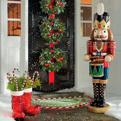 5 ft musical nutcracker grandin road for Outdoor christmas figures