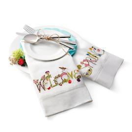 """Welcome Spring"" Tea Towels, Set of Two"