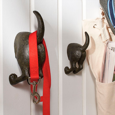 Dog Tail Hooks, Set Of Two - Grandin Road - Fully Assembled