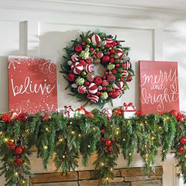 set of two christmas canvases - Christmas Garland