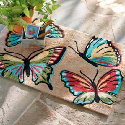 Butterfly Outdoor Mat Grandin Road