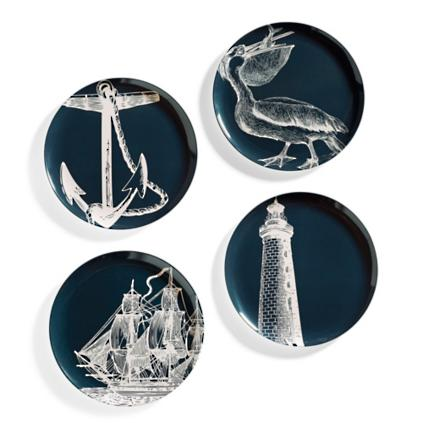 Nautical Dinner Plates Set of Four  sc 1 st  Grandin Road & Nautical Dinner Plates Set of Four | Grandin Road