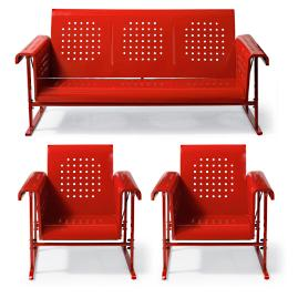 Retro Squares 3-pc. Glider Seating Set