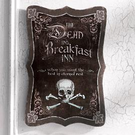 """Dead and Breakfast"" Halloween Wall Art"