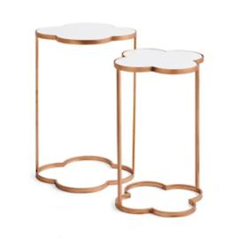 Clover Accent Tables, Set of Two