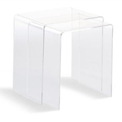 Chamonix Acrylic Nesting Table, Set Of Two