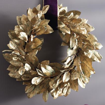 Gold Magnolia Wreath Grandin Road
