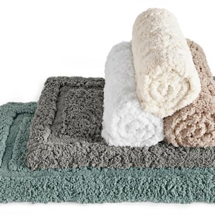 cozy memory foam bath rug | grandin road