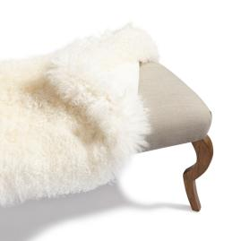 Mongolian Sheep Fur Cover for 52in Scarlett Bench