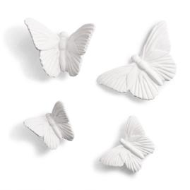 Butterflies in Flight Artwork, Set of Four