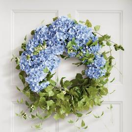 Haley Blue Hydrangea Wreath