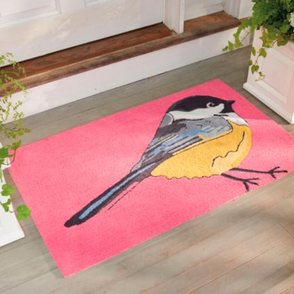 chickadee outdoor mat