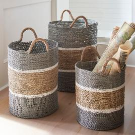 Exceptionnel Jambi Baskets, Set Of Three