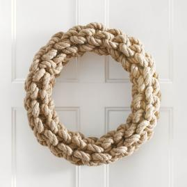 Braided Rope Wreath