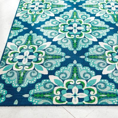 Tortola Baroque Outdoor Rug Grandin Road