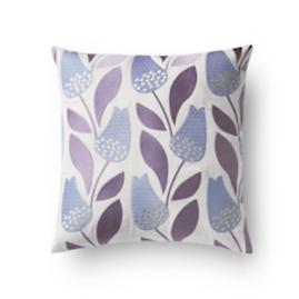 Fleur Lilac Embroidered Pillow