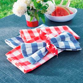Gingham Napkins, Set of Four