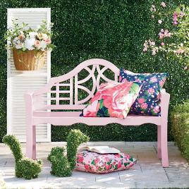 Pink Garden Furniture Yorkshire bench grandin road vivienne bench workwithnaturefo