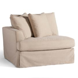 Ava Sectional Slipcovered Left-facing Chair