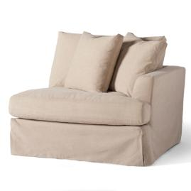 Ava Sectional Slipcovered Right-facing Chair