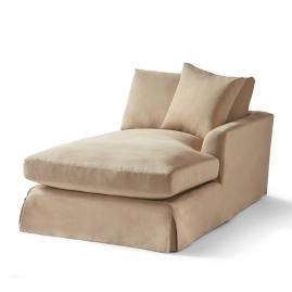Ava Sectional Slipcovered Right-facing Chaise