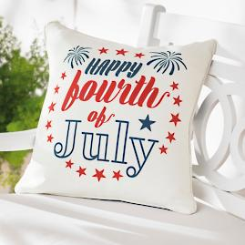 Happy Fourth Patriotic Pillow