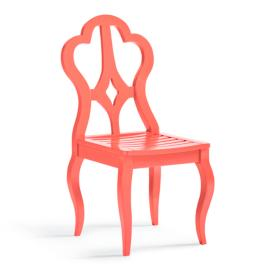 Jubilee Side Chair in Solid Coral