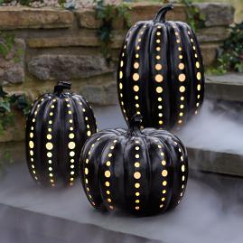 Black Illuminated Pumpkin