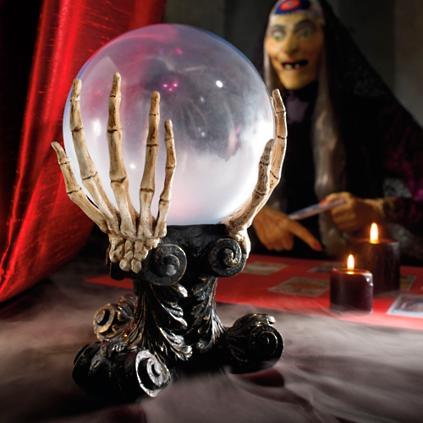 Glass crystal ball grandin road