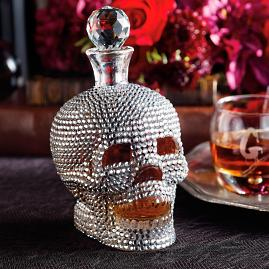 Jeweled Skull Decanter