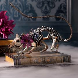 Katherine's Collection Jeweled Skeleton Rat