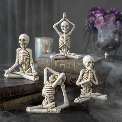 Yoga Skeletons Set Of Four Grandin Road