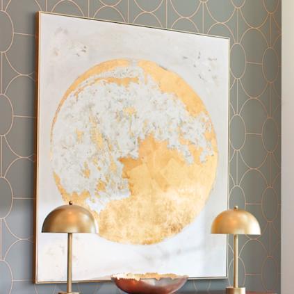 Gold Moon Wall Art | Grandin Road