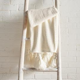Oversized Tassel Throw