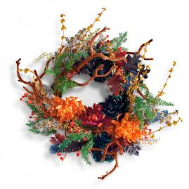 Midnight Garden Wreath