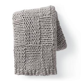 Chunky Knit Grid Throw