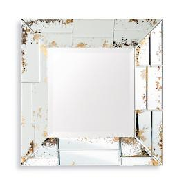 Distressed Beveled Mirror