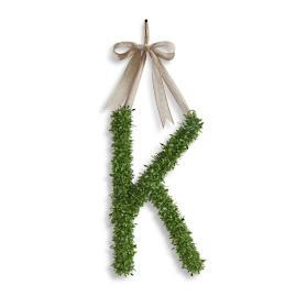 Boxwood Monogram Letter