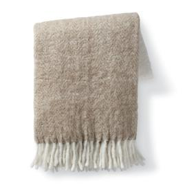 Colorblock Faux Mohair Throw